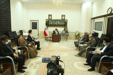 دیدار مدیر کل کمیته امداد قم با آیت الله سعیدی