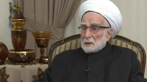 شیخ احمد الزین رئیس تجمع علمای مسلمان لبنان