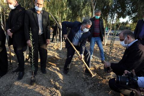 مراسم آغاز غرس نهال در حوزههای علمیه سراسر کشور در مجتمع شهید صدوقی قم