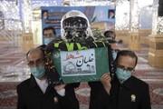 پیکر مطهر شهید بیگ محمدی در حرم مطهر رضوی طواف داده شد