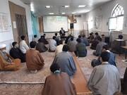 تصاویر/ شرکت طلاب مدرسه علمیه آیت الله مصطفوی (ره) کاشان در درس اخلاق