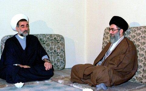 الإمام الخامنئي والشيخ أحمد الزين
