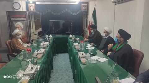 جلسه مسئولان مرکز ارتباطات و بینالملل حوزه با آیت الله رجبی