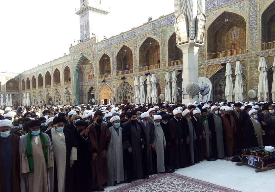 پیکر حجت الاسلام و المسلمین مهدوی در نجف اشرف تشییع شد+ تصاویر