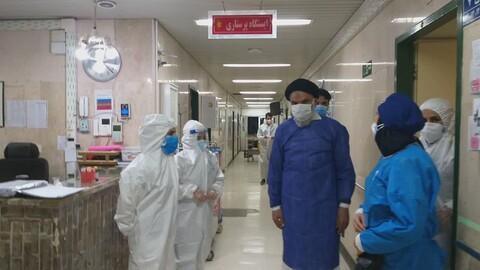 تصاویر/ خداقوت نماینده ولی فقیه خوزستان به کادر درمان و جهادگران بیمارستان حضرت ولیعصر(عج) خرمشهر