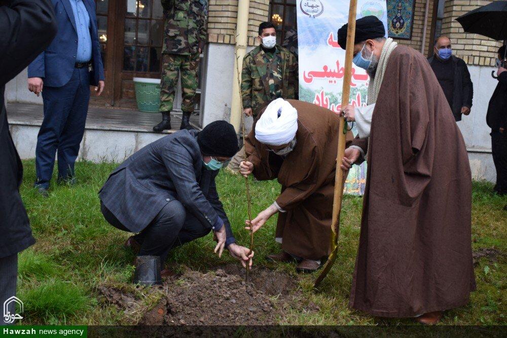 تصاویر/  کاشت نهال پس از اقامه نماز جمعه گیلان