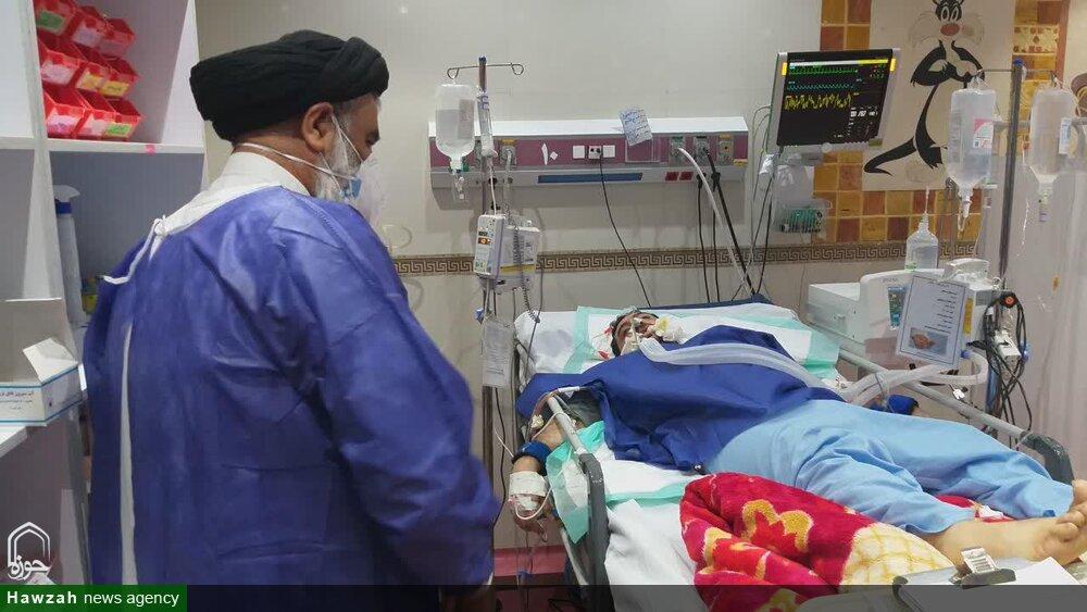 از قرائت دعای هفتم صحیفه سجادیه تا قدردانی از تلاشهای کادر درمان بیمارستان آیت الله طالقانی