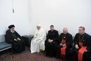 عکس/ دیدار پاپ فرانسیس با آیت الله العظمی سیستانی