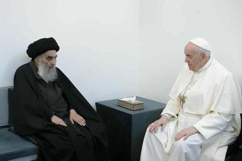 دیدار آیت الله سیستانی و پاپ