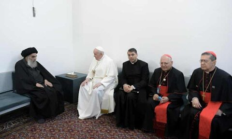 Grand Ayatullah Sistani meeting with Pope Francis: