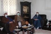 مدیر حوزه علمیه قزوین به دیدار خانواده جانباز روحانی رفت + عکس