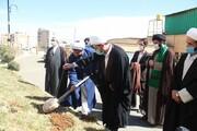 مراسم درختکاری در مدرسه امام شافعی سنندج برگزار شد