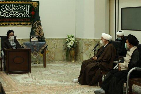 آیت الله سعیدی در دیدار ولی فقیه در بنیاد مسکن انقلاب اسلامی