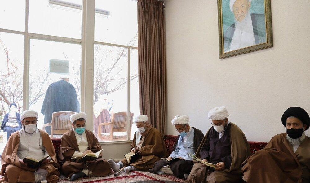 بزرگداشت حجت السلام و المسلمین مهدوی در دفتر آیت الله فیاض در قم