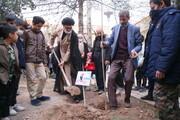 تصاویر / غرس نهال به یاد سرداران شهید در یادواره شهدای منطقه کوه خضر نبی (ع)