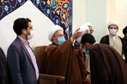 تصاویر/ عمامه گذاری جمعی از طلاب توسط آیتالله العظمی سبحانی