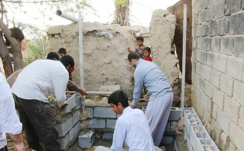 تصاویر/ فعالیتهای جهادی طلاب مدرسه علمیه الغدیر اهواز در منطقه غیزانیه