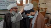 عمامه گذاری طلاب توسط آیت الله سیفی مازندرانی