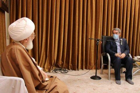 آیت الله العظمی نوری همدانی در دیدار وزیر کشور