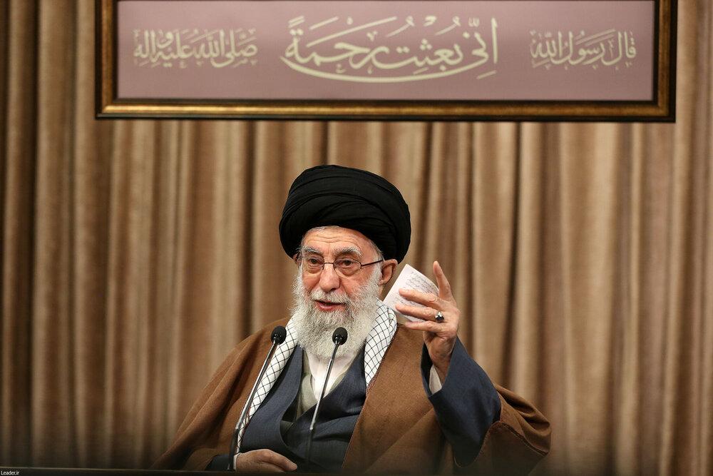صوت کامل بیانات رهبر معظم انقلاب در سخنرانی تلویزیونی به مناسبت عید مبعث