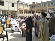 تصاویر/ آئین عمامه گذاری طلاب مدرسه علمیه جامع موسی بن جعفر(ع) شهرستان بهبهان