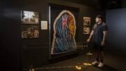 هنرمندی که اثر هنری زن باحجاب، پرچم نیوزیلند را خلق کرد + تصاویر