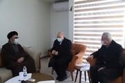 رئیس مجلس با نماینده ولی فقیه در آذربایجان شرقی دیدار کرد