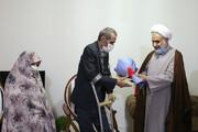 امام جمعه قزوین به دیدار جانبازان رفت