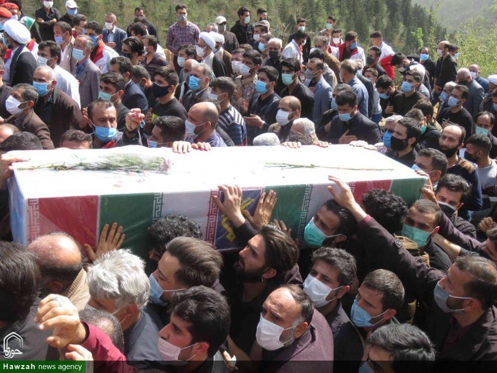 تصاویر/ تشییع پیکر مطهر شهید مدافع حرم مجتبی برسنجی در سوادکوه