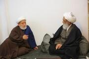 آیت اللہ العظمی بشیر نجفی کی خدمت میں معروف خطیب حجۃ الاسلام شیخ حسین انصاریان