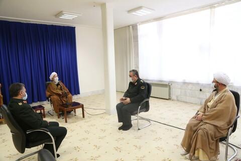 تصاویر / دیدار سردار اشتری با آیت الله العظمی جوادی آملی