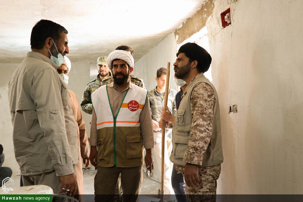 تصاویر/ خدمت رسانی طلاب جهادی حوزه علمیه اصفهان در منطقه زلزله زده پاتاوه