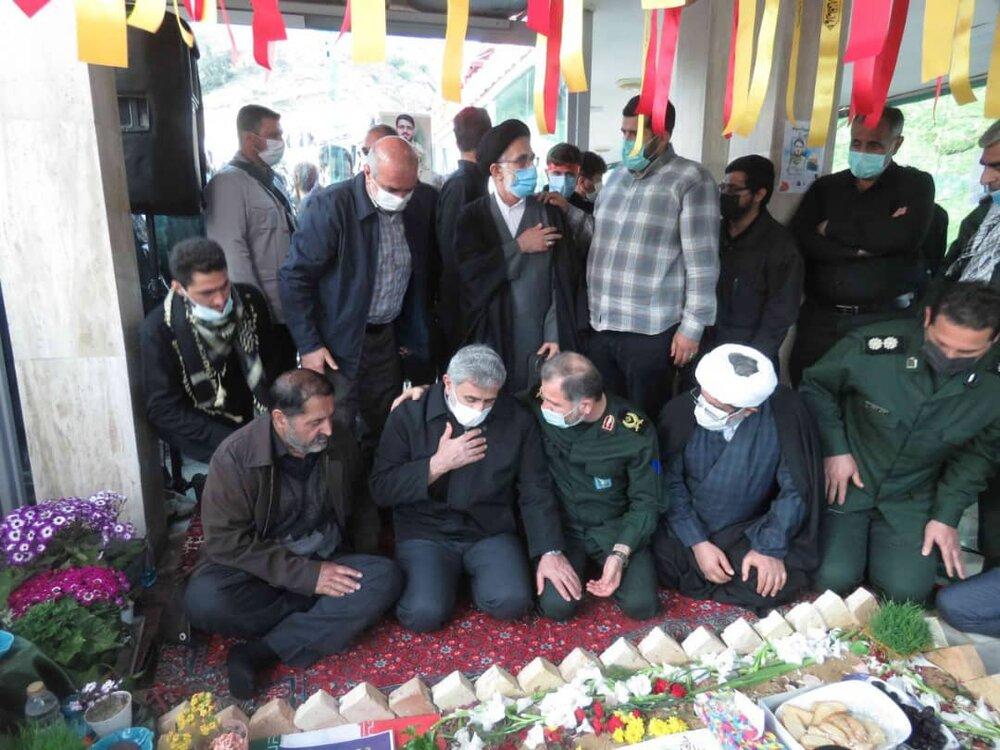 تصاویر/ هفتمین روز شهادت مجتبی برسنجی با حضور فرمانده سپاه قدس در سوادکوه