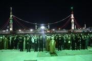 تصاویر / اقامه نماز جماعت توسط آیت الله العظمی نوری همدانی در شب نیمه شعبان در مسجد مقدس جمکران