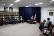 تصاویر/ دیدار نوروزی شورای معاونین حوزه با آیت الله اعرافی