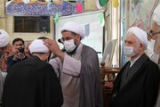 تصاویر / عمامه گذاری طلاب همدانی در روز میلاد حضرت حجت(عج)