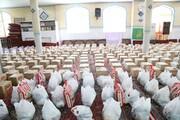 مراسم توزیع ۸۰۰ بسته معیشتی در مسجدالزهراء برگزار شد