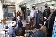 تصاویر / بازدید آیت الله اعرافی از مدرسه شهید صدوقی