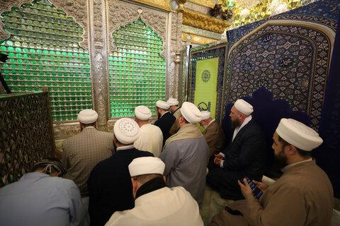 تشرف هیئتی از علمای اهل سنت ترکیه به حرم امامین عسکریین(ع)