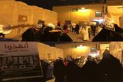 تظاهرات شبانه بانوان بحرینی برای نجات جان زندانیان + تصاویر