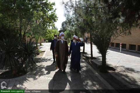 """بالصور/ آية الله الأعرافي يتفقد مدرسة """"مدينة العلم"""" العلمية بقم المقدسة"""