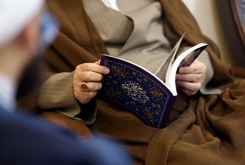 تصاویر/ بازدید آیت الله اعرافی از مدرسه علمیه فاطمی قم