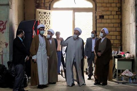 تصاویر/ بازدید آیت الله اعرافی از مدرسه علمیه ملا صادق قم