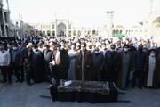 تصاویر / تشییع پیکر حجت الاسلام والمسلمین شیخ محمد هادی محامی در قم