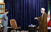 تصاویر/ دیدار نوروزی شهردار قم با آیت الله اعرافی