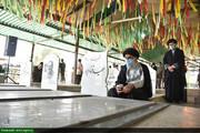 مراسم غبارروبی گلزار شهدا در اهواز برگزار شد+عکس