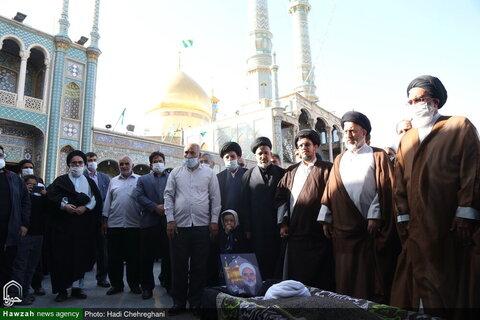 بالصور/ تشييع جثمان حجة الإسلام والمسلمين الشيخ محمد هادي محامي بقم المقدسة