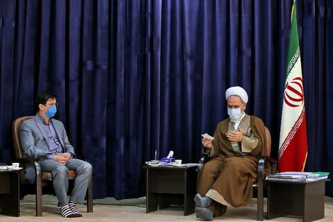 تصاویر دیدار نوروزی شهردار قم با آیت الله اعرافی