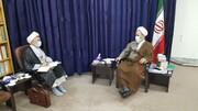 دیدار مدیر حوزه استان یزد با آیت الله اعرافی