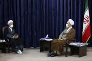 تصاویر/ دیدار رئیس و معاونین دانشگاه قم با آیت الله اعرافی